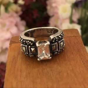 Silpada Marcasite, Sterling Silver & CZ Ring R0960